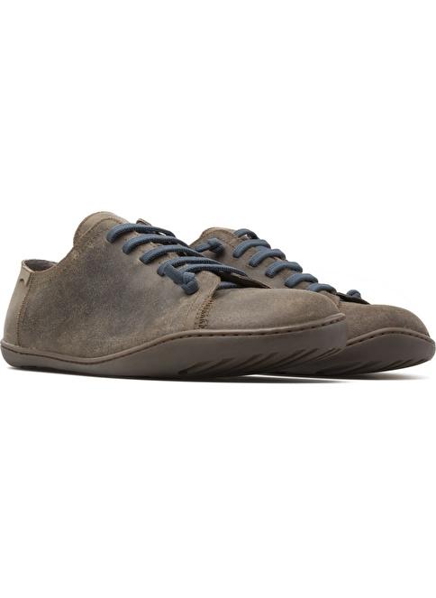 Camper Bağcıklı Deri Ayakkabı Kahve